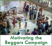 Motivating the beggars to stop begging and start working